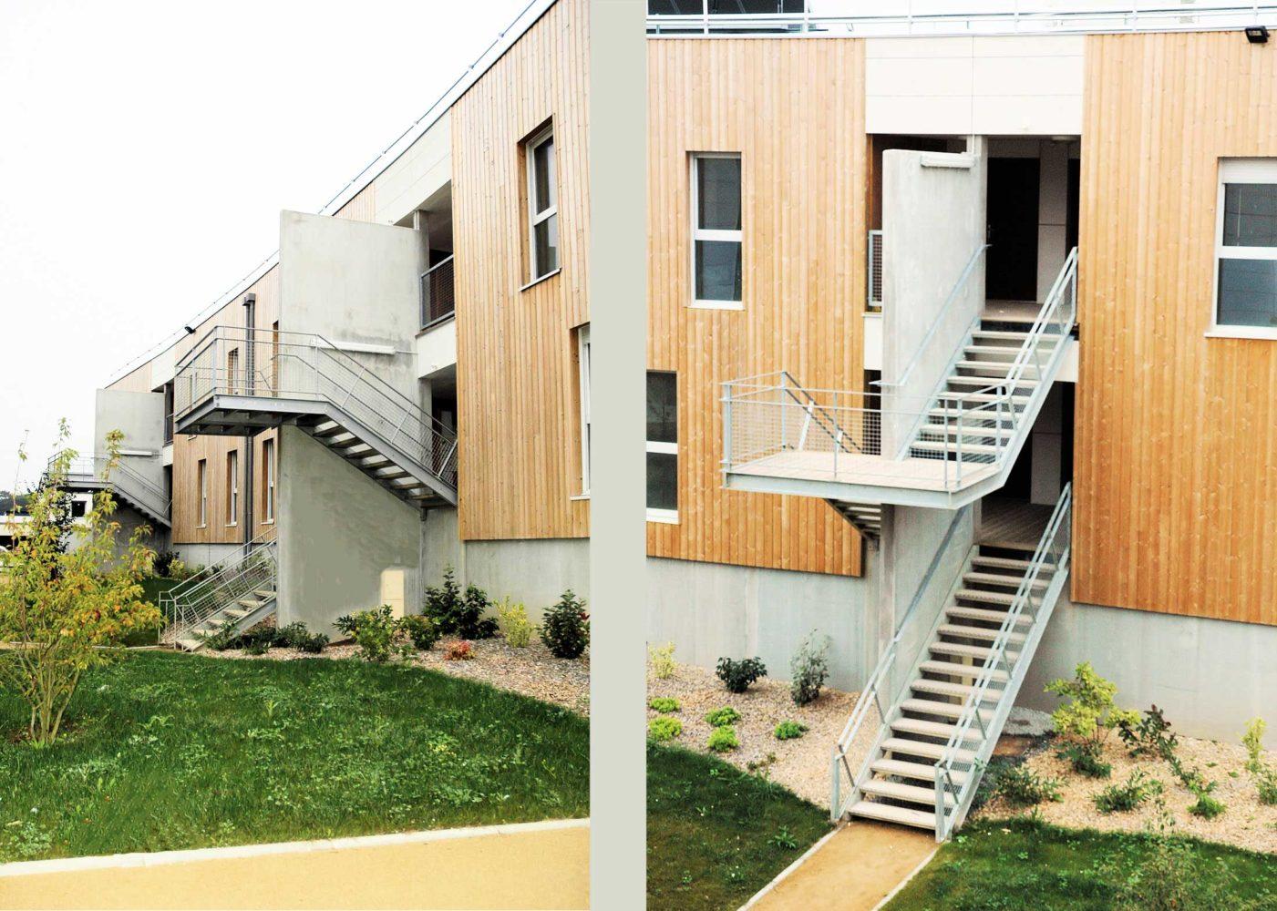 Logements collectifs-les terrasses de Gutenberg